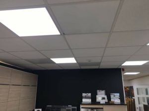 Select ceiling panel leads to reduction in energy