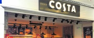 Aspect XL in Costa coffee
