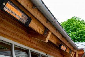 Herschel infrared Colorado heater for outdoors