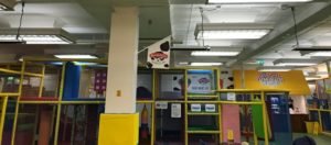 Summit infrared ceiling heaters mounted in indoor play centre