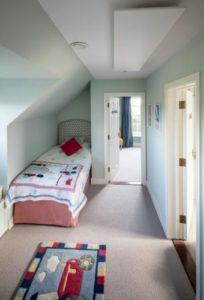 Calentador Inspire discreto en un dormitorio
