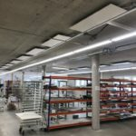 Inspire panels in a factory provide sustainable low energy heating