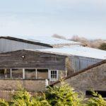 Solar panels provide the energy for infrared heating