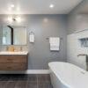 Seleccione espejo XLS en el baño