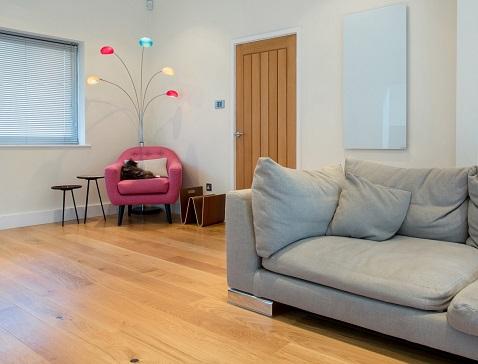 Calentadores infrarrojos de vidrio de pared discretos