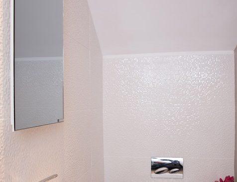 Calentador de espejo que ahorra espacio para baños pequeños