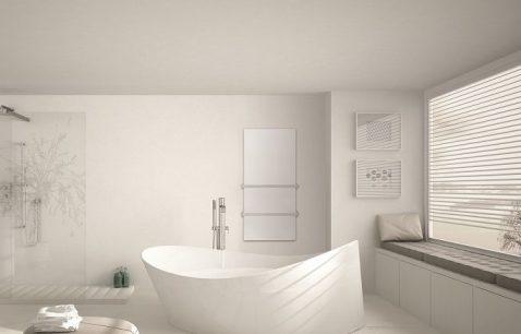 Calentador de toallas por infrarrojos Herschel para baños