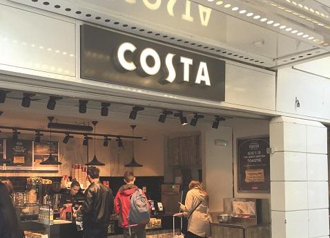 Costa Coffee calentado por infrarrojos de Herschel