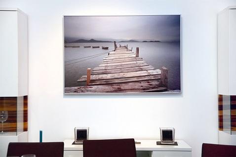 espacio de oficina calentado por un panel decorativo de imagen Herschel