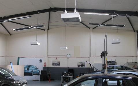 Herschel IRP4 proporciona el calentador de taller de garaje ideal