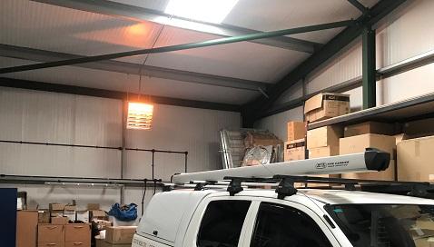 Espacio de garaje de calentamiento Vulcan